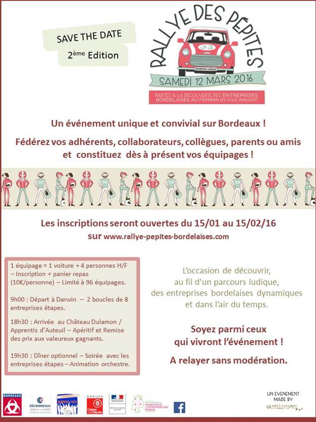 Initiatives : Rallye des pépites, le 12 mars 2016